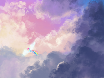 Cotton Candy Clouds by greyschale