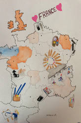My map of FRANCE!! by Cat-Anna