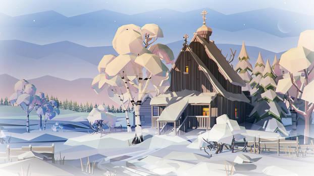 Snow Church by prusakov