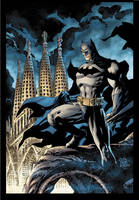 Batman over Barcelona by jimlee00