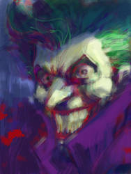Joker on iPad by jimlee00