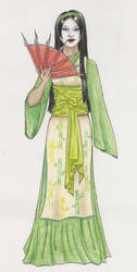 Yukimi noh Daiomoru by melzika