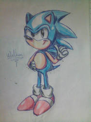 Another Sonic Drawing by Welber13