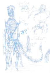 Gary - Sketch :Monster Planet: by sedge