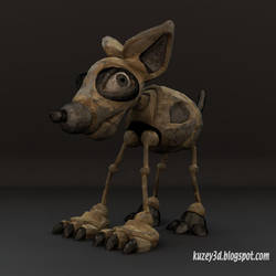 Low Poly Robot Dog :P by Kuzey3d