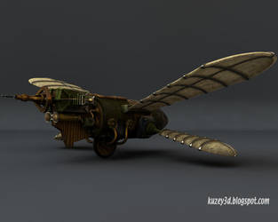 Butteridge's Flying Machine by Kuzey3d
