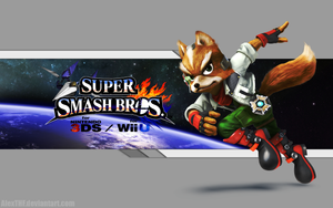 Fox Wallpaper - Super Smash Bros. Wii U/3DS by AlexTHF