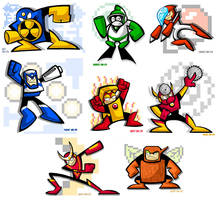 Mega Man 2's Eight Bosses by yooki42