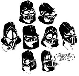 More Darth Vader Expressions by yooki42