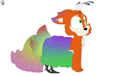 Logerto - Hybrid of fox and peacock by Turquoisecharcoal