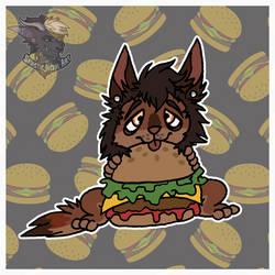 $Commission - CC Burger Nom by SadisticJackal