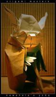 origami masters:kawahatas yoda by orsobrusco