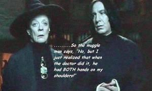 Snape tells a dirty joke by barguestspirit