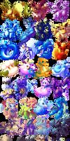 $5 Pokemon Chibis by RebeccaFrank