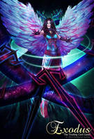 Cosmic Shield Archangel by RebeccaFrank