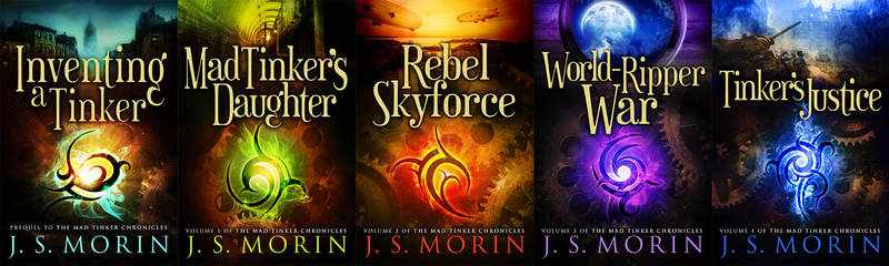 Mad Tinker Chronicles Book Covers by RebeccaFrank