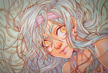 -:- Blue girl -:- by Elairin