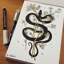 Inktober - Day 05: Long by Elairin