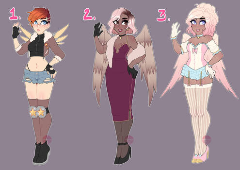 Cupid Adopts Set #2 (1/3 OPEN) by LunaOfWater