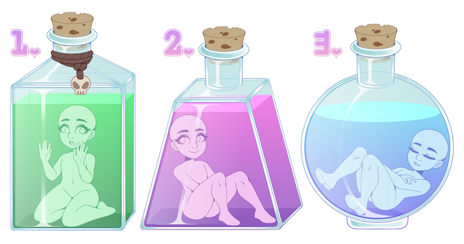 Potion Chibi YCH (CLOSED!) by LunaOfWater