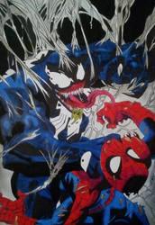 VENOM VS SPIDERMAN by RafaelAvd