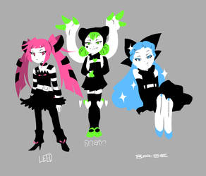 UFO's are terrified of trios by DokiDokiTsuna