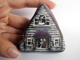 Painted Rock - Haunted House by Chaotica-I