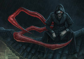 ghoul on the roof by Penator