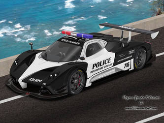 Pagani Zonda R Police Car by EVOV1
