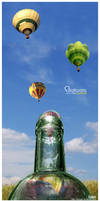 Balloons in the bottle by TomasSlabej