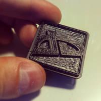 deviantART Logo - 3D Printed with Makerbot by danlev