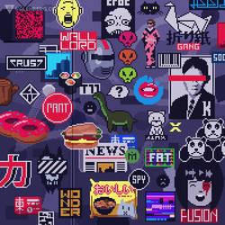 Sticker wall (2/4) by Valenberg