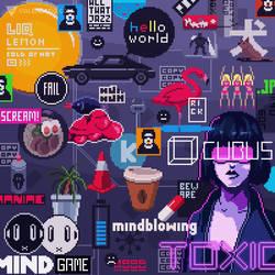 Sticker Wall 3 by Valenberg