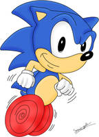 Retro Sonic the Hedgehog by Sonic-Gal007