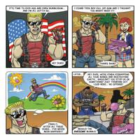 Duke Nukem: Bubblegum by drawinkpaper