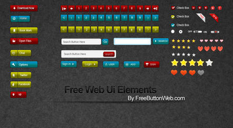 Free Web Ui Elements design by button-finder