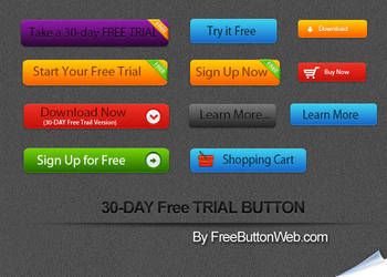 Free Trial Button by button-finder