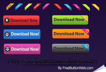 Free PSD Download Now Button by button-finder