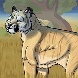 Africanized Tiger. by RickWhitetiger