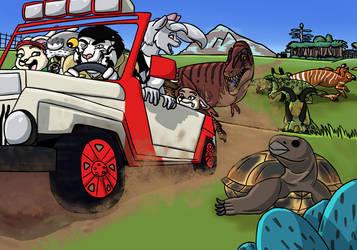 Wahweap Safari. by RickWhitetiger