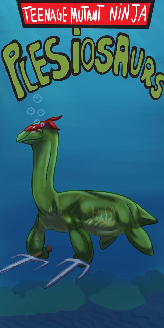 Behold! A Teenage Mutant Ninja Plesiosaur! by RickWhitetiger