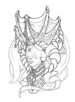 Commish: Queen Della by QuazarShark