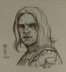 Winter Soldier sketch by artloadernet