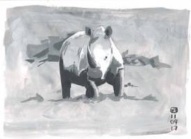 Rhino1Small by artloadernet
