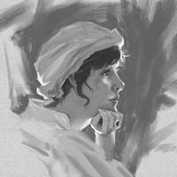 Rim Lit Lady Painting Study 1 by artloadernet