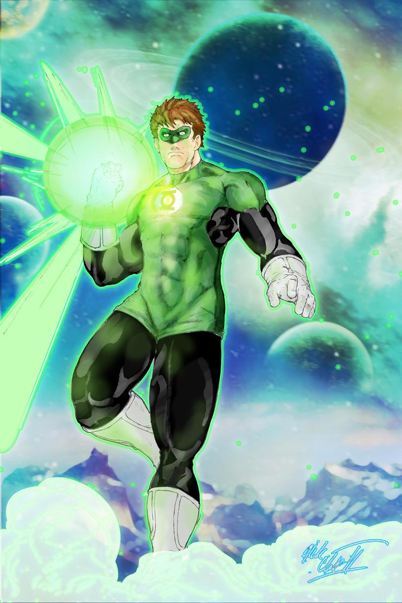 Green Lantern by Mark-Clark-II
