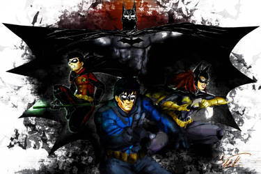 Bat family by Mark-Clark-II