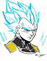 SSJG-Vegeta by Mark-Clark-II