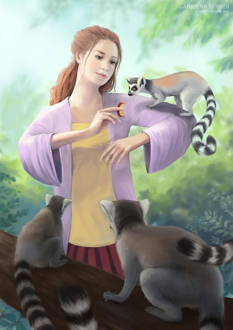 My Lemur Friends by AdriennEcsedi