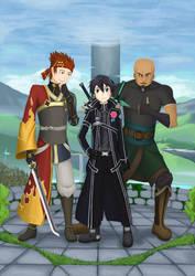 Kirito's Groomsmen by TorahSylphwind